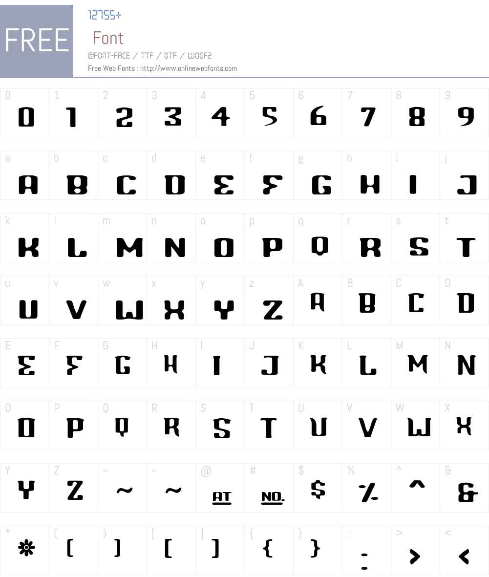 Blinddate Font Screenshots