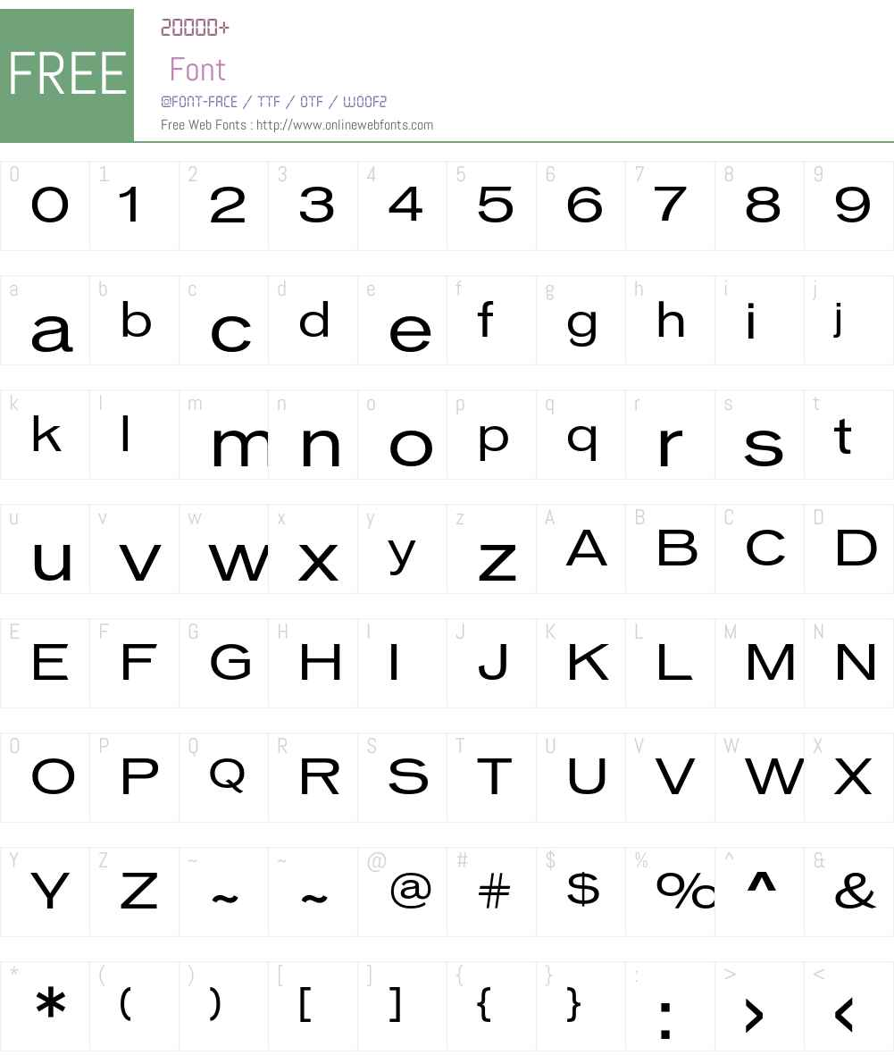 VonnesTTBookExt Font Screenshots