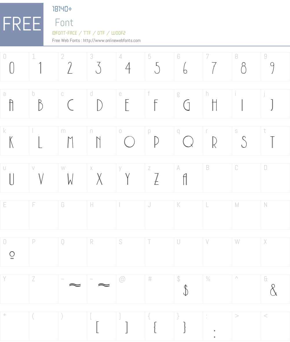 Plaza Font Screenshots