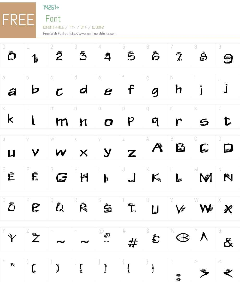 KEVER Font Screenshots