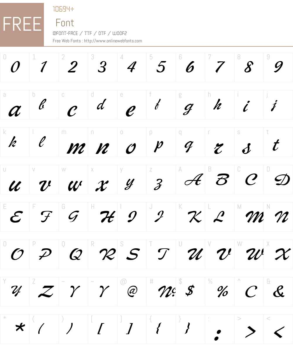 MiddletonW01-BrushRegular Font Screenshots