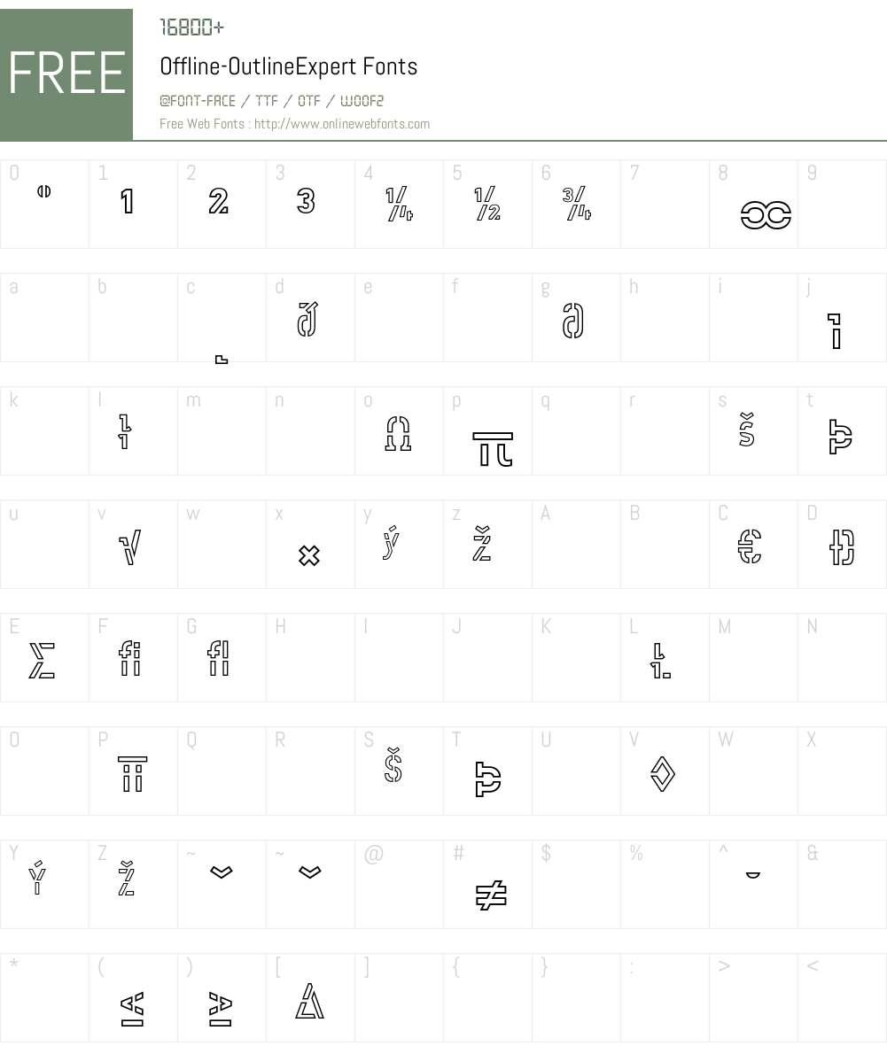 Offline Font Screenshots