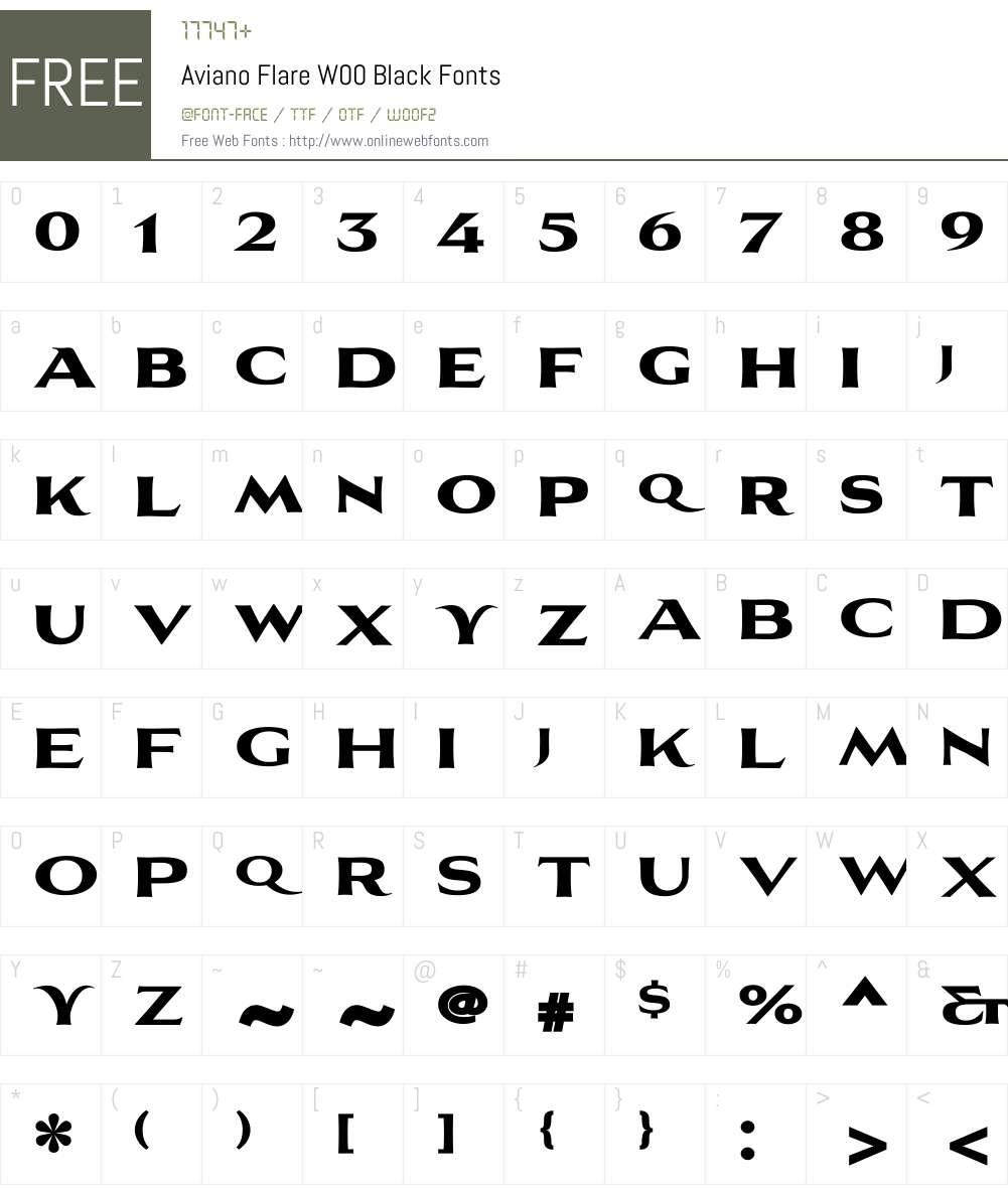 Aviano Flare Black Font Screenshots