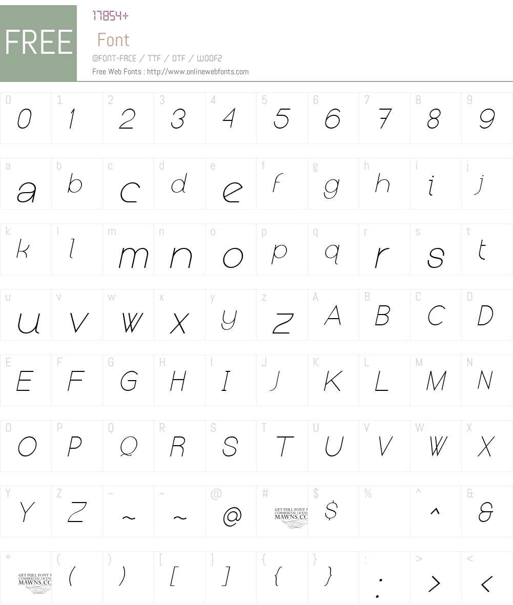 Kerater Font Screenshots