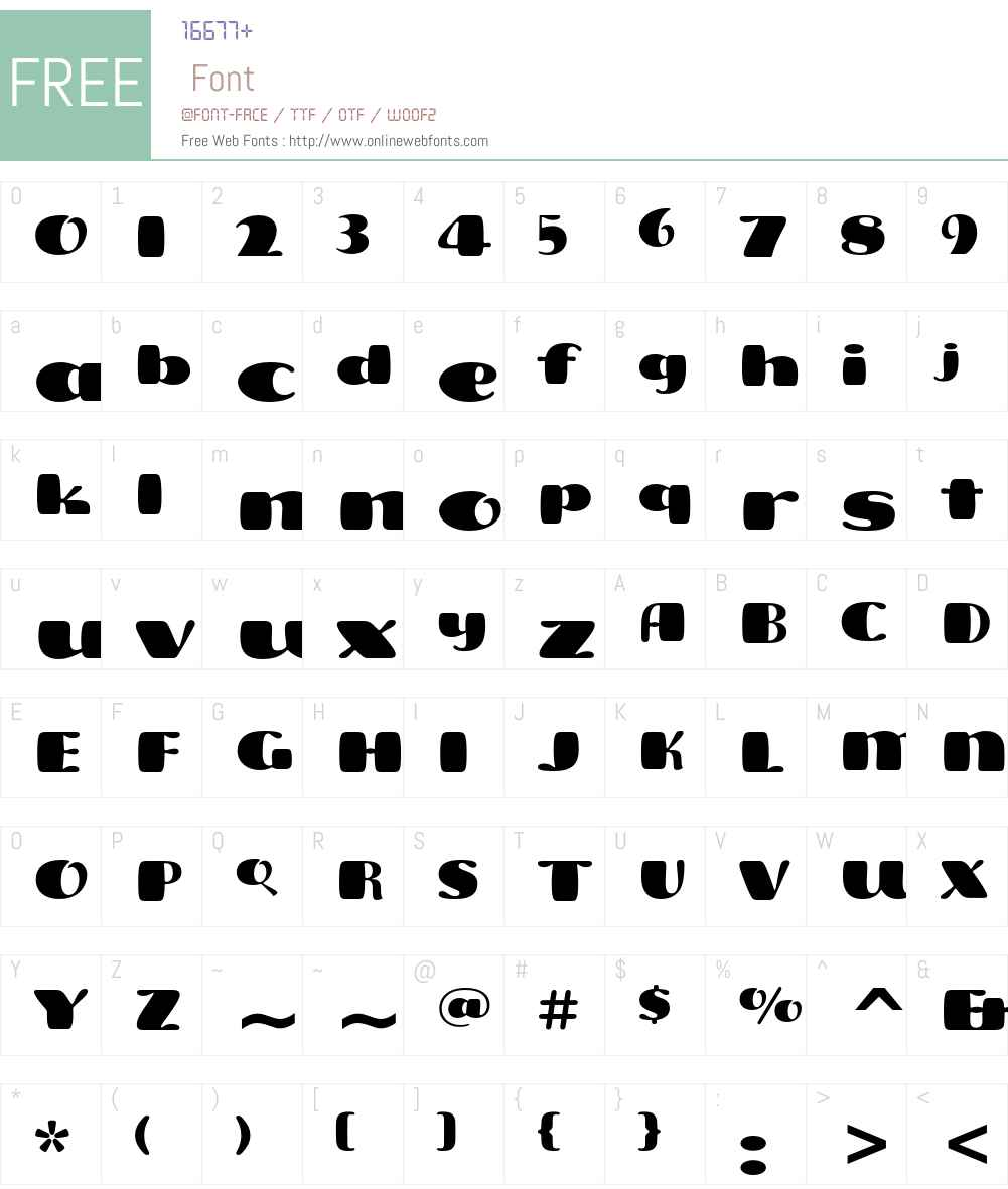 Freddo ITC Std Font Screenshots