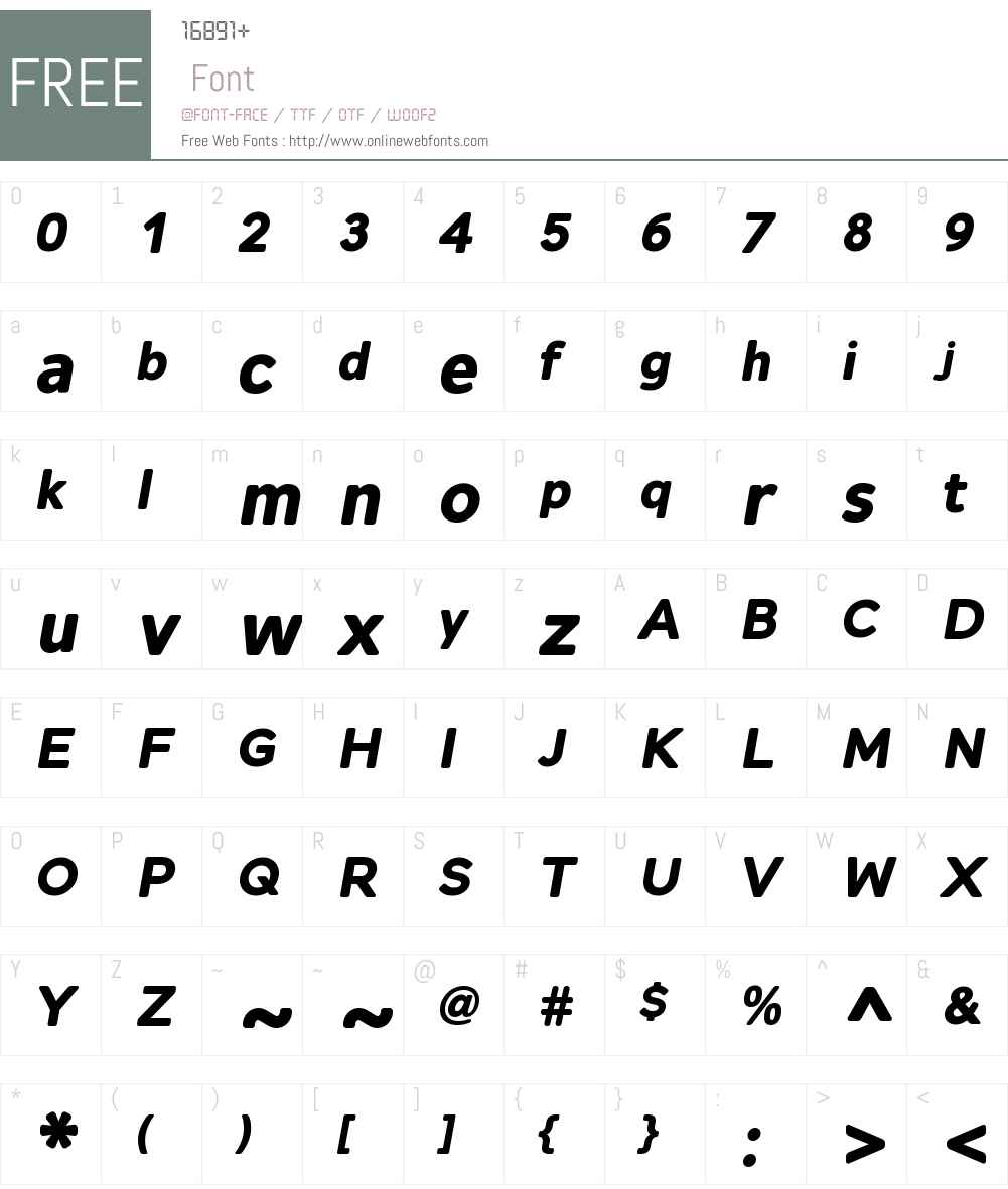 AlleynW01-BoldItalic Font Screenshots