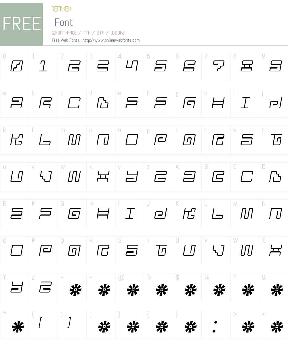 Iron Lounge 2 Font Screenshots