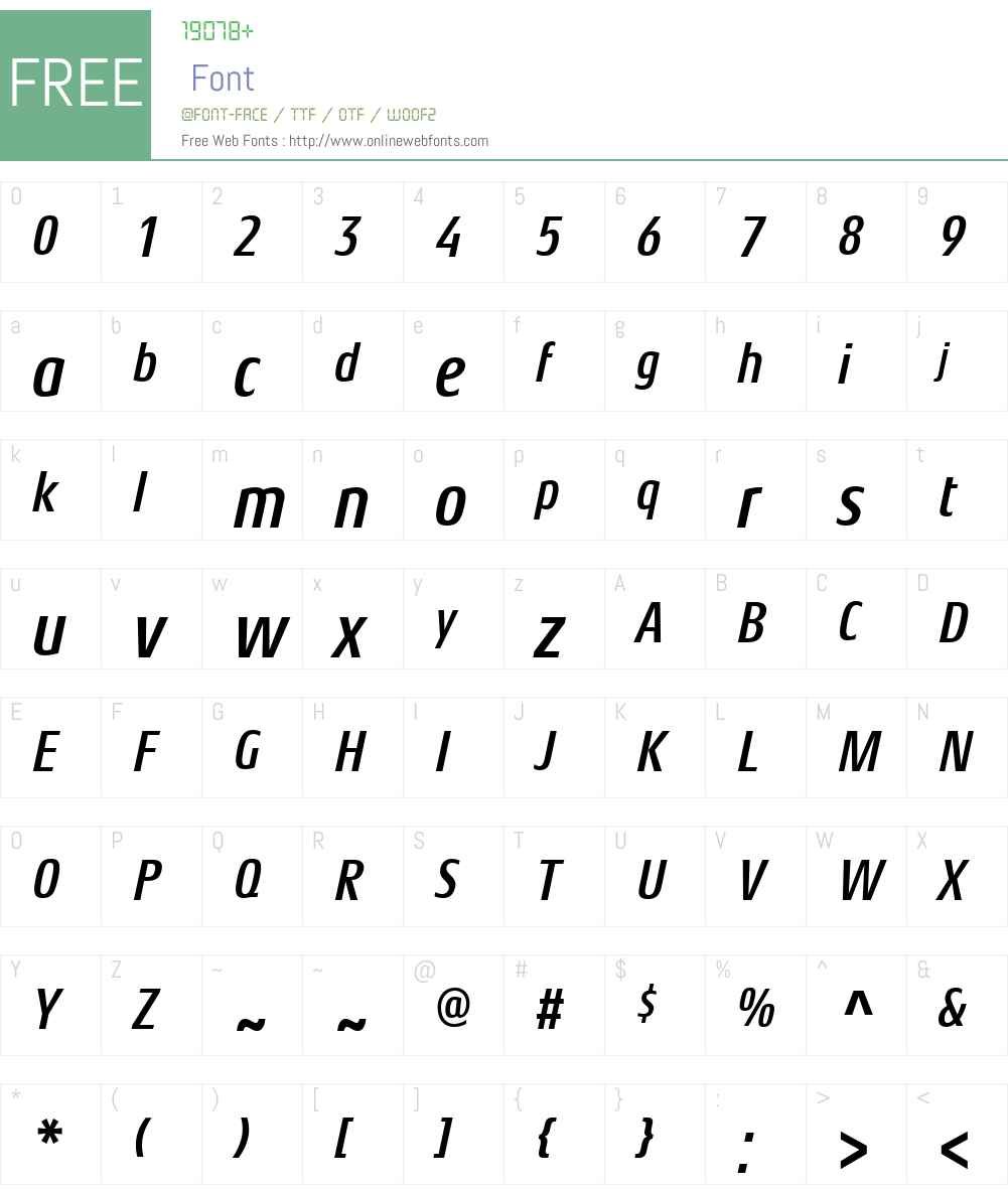 Aeonis Font Screenshots