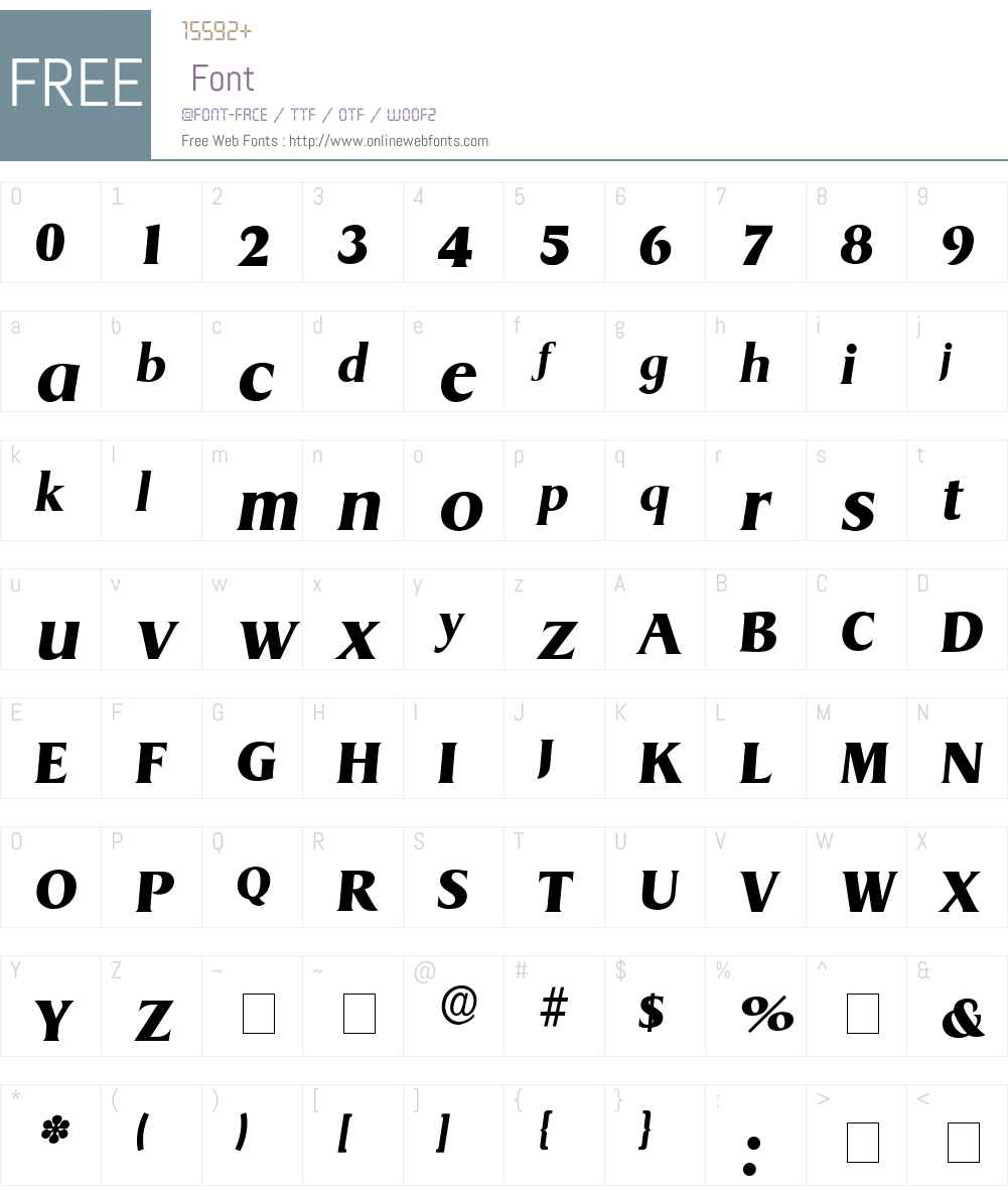Baryon Display SSi Font Screenshots