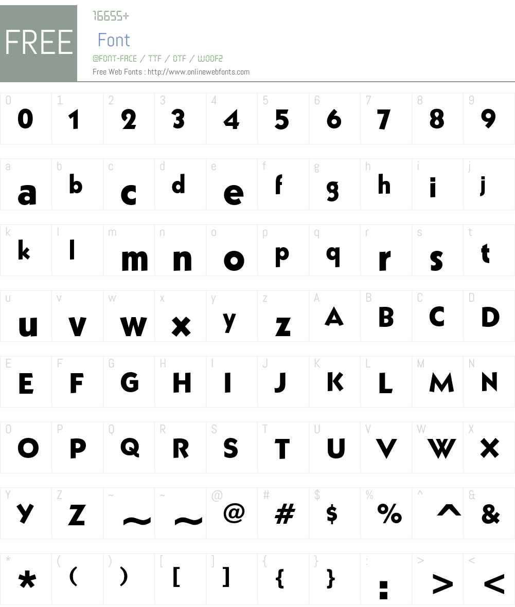 ITC Grizzly Font Screenshots
