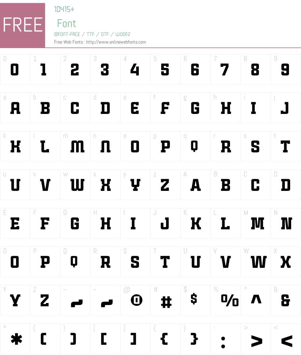 CintraSlabSolidW01-Regular Font Screenshots