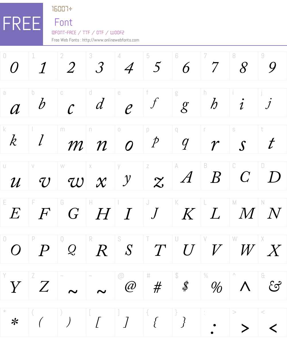 Adobe Caslon Pro Font Screenshots