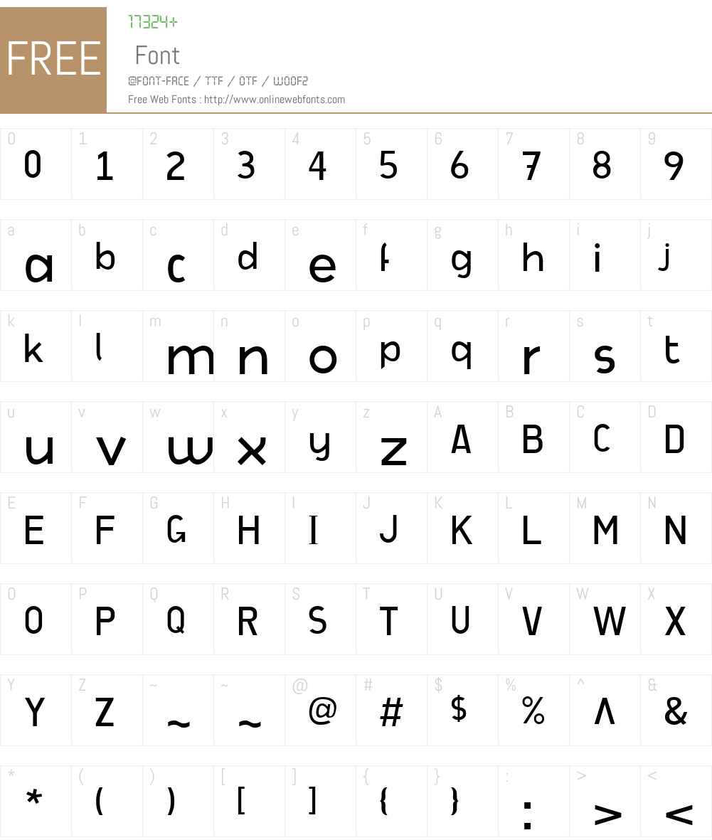 CafeRetroW00-Light Font Screenshots