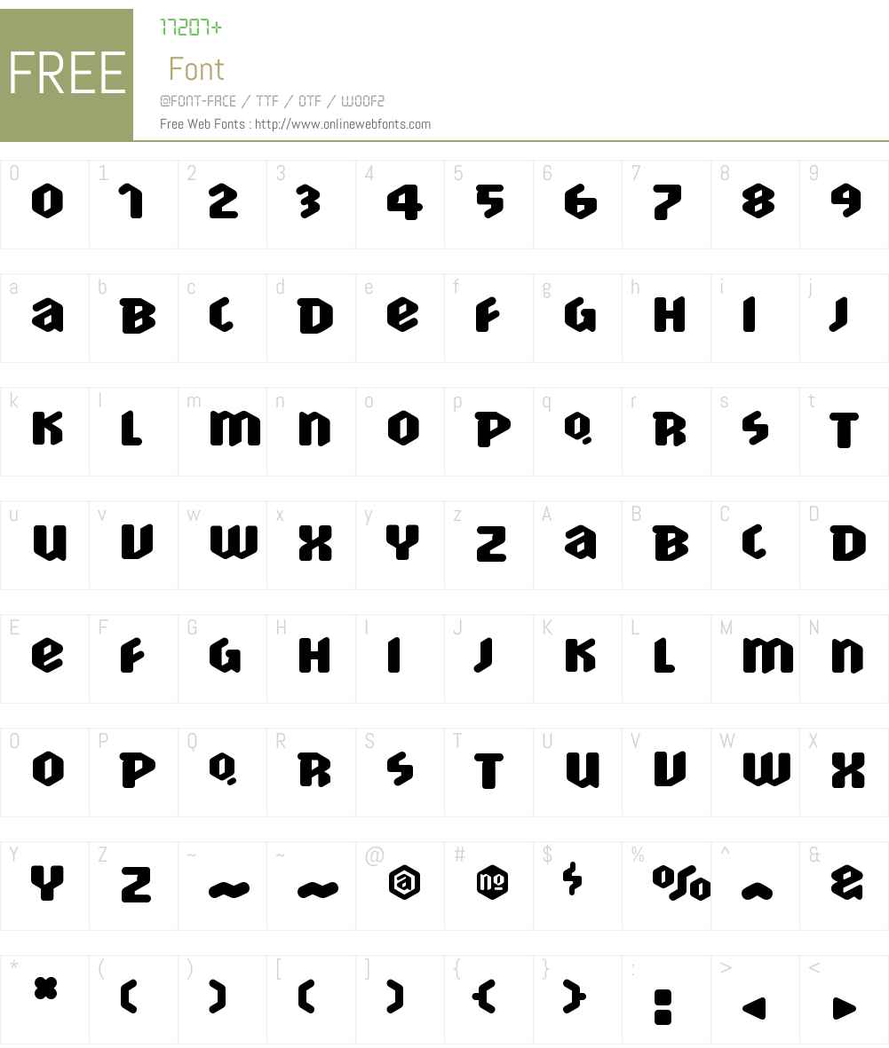 ScrotnigW00-Heavy Font Screenshots