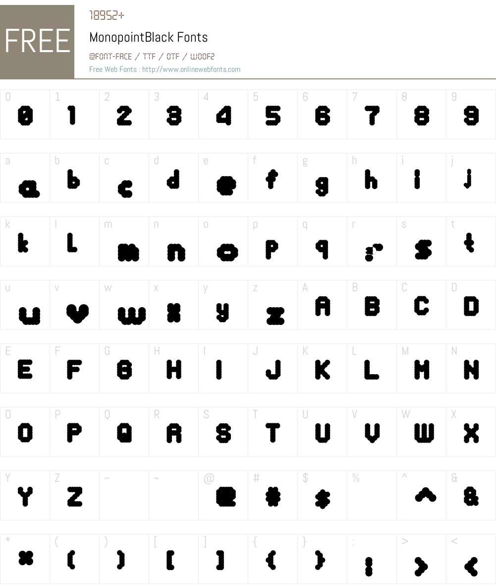 MonopointBlack Font Screenshots