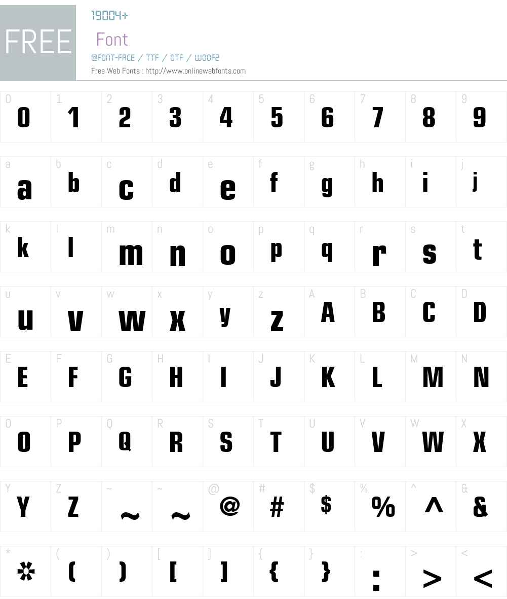 Eurostile Font Screenshots