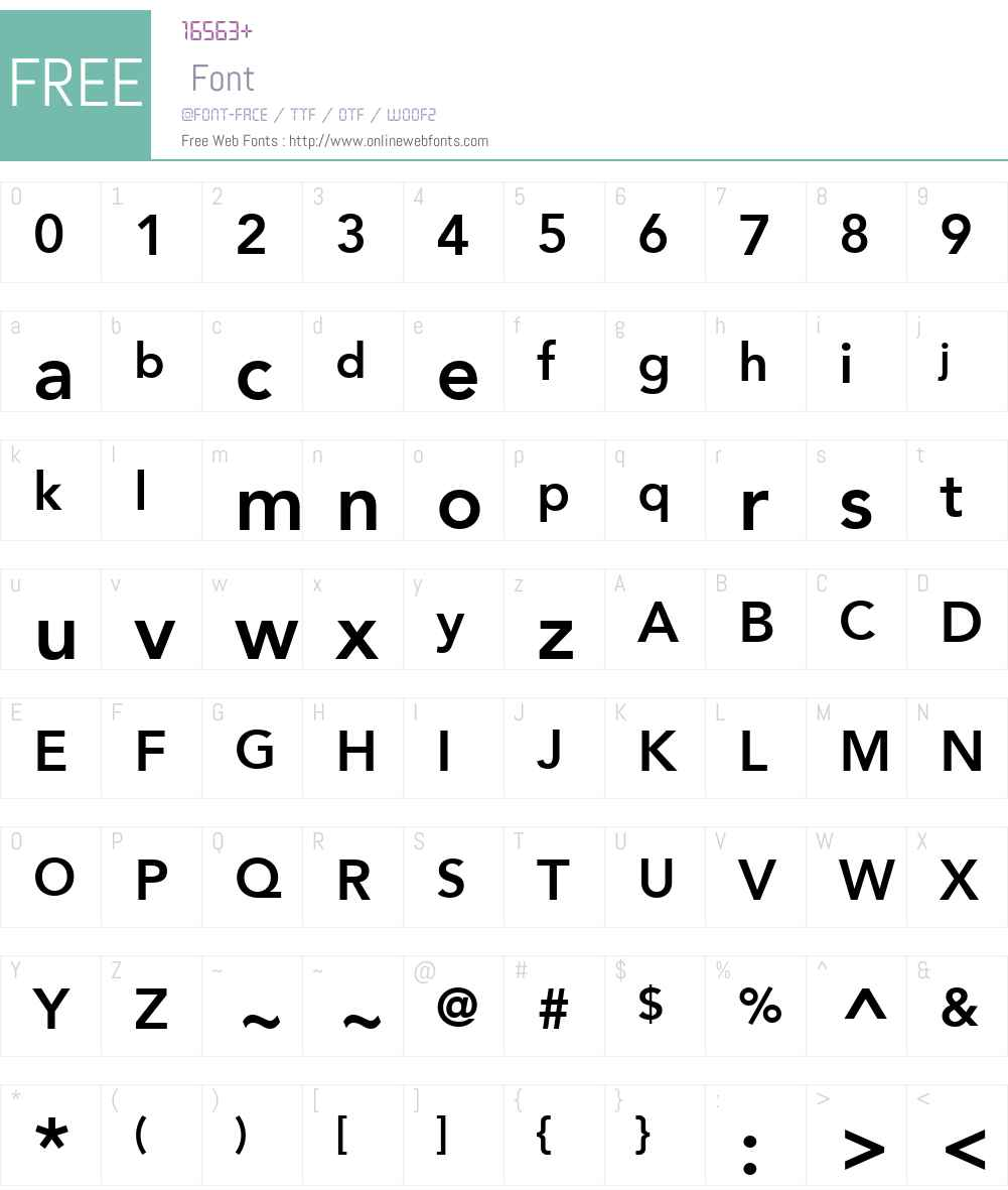 Avenir LT 55 Roman Font Screenshots