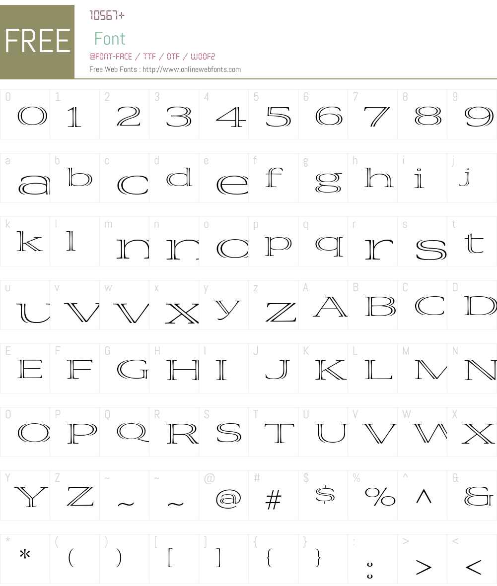 Viva Std Font Screenshots