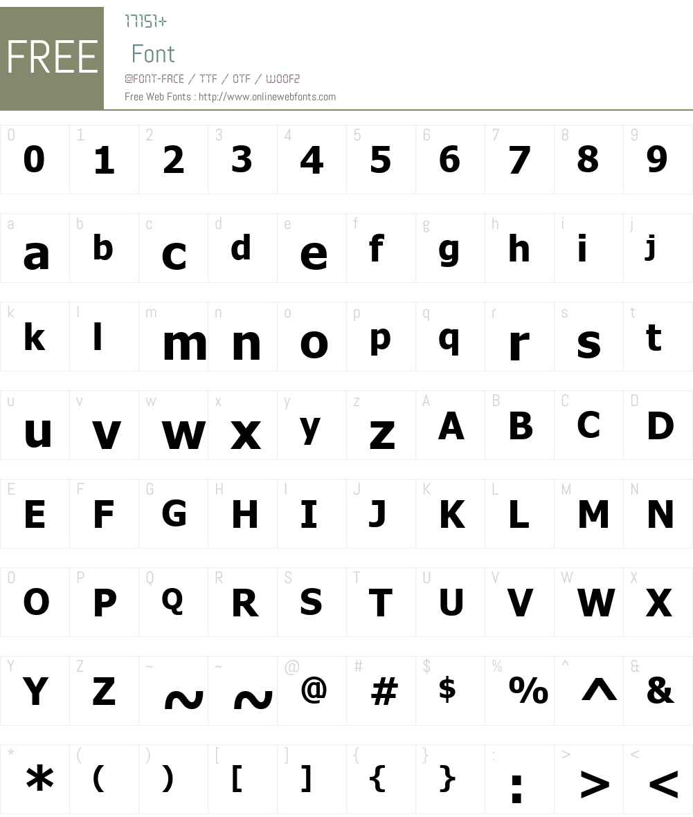 Alpsoft Tuz Tom Font Screenshots