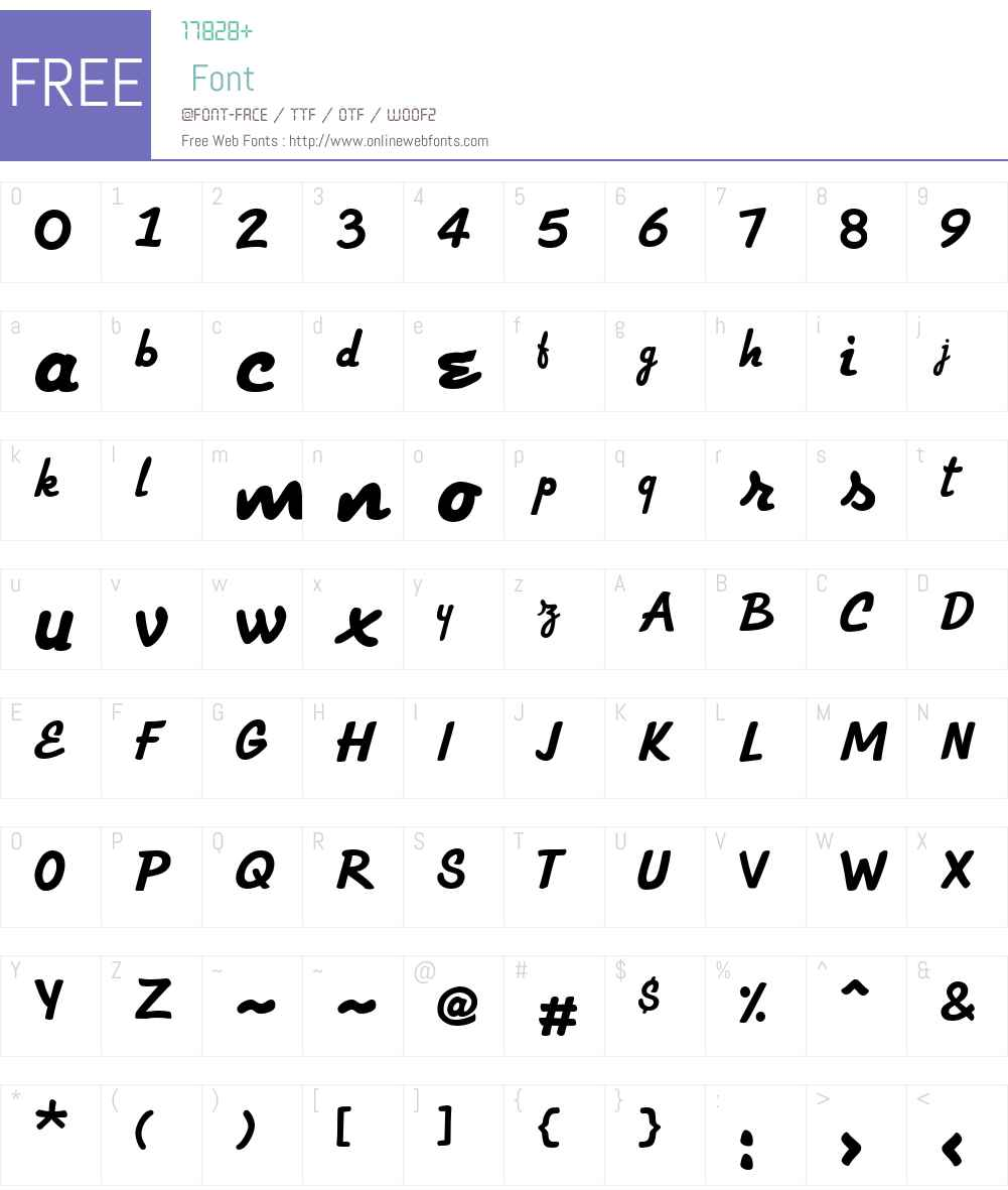 Strato Medium Font Screenshots
