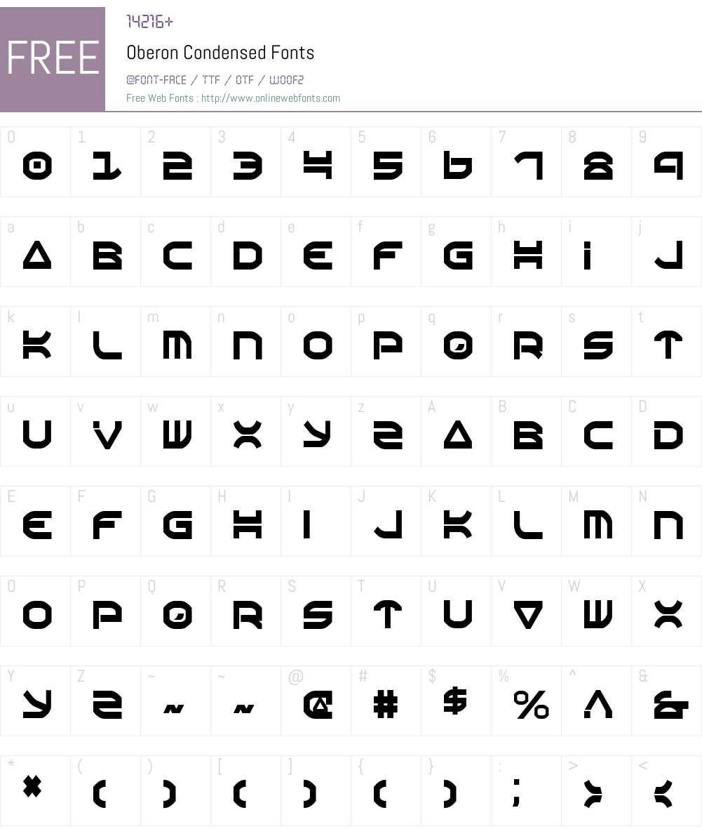 Oberon Condensed Font Screenshots