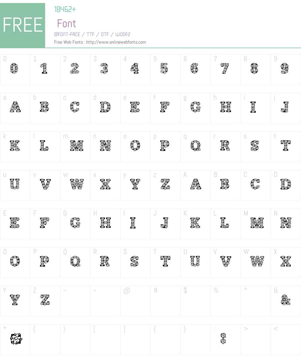 AlphaFlowers Font Screenshots