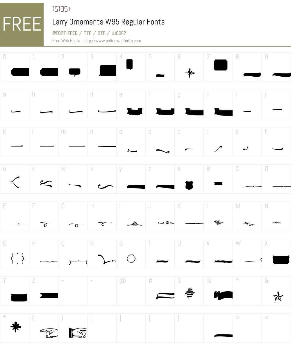 Larry Font Screenshots