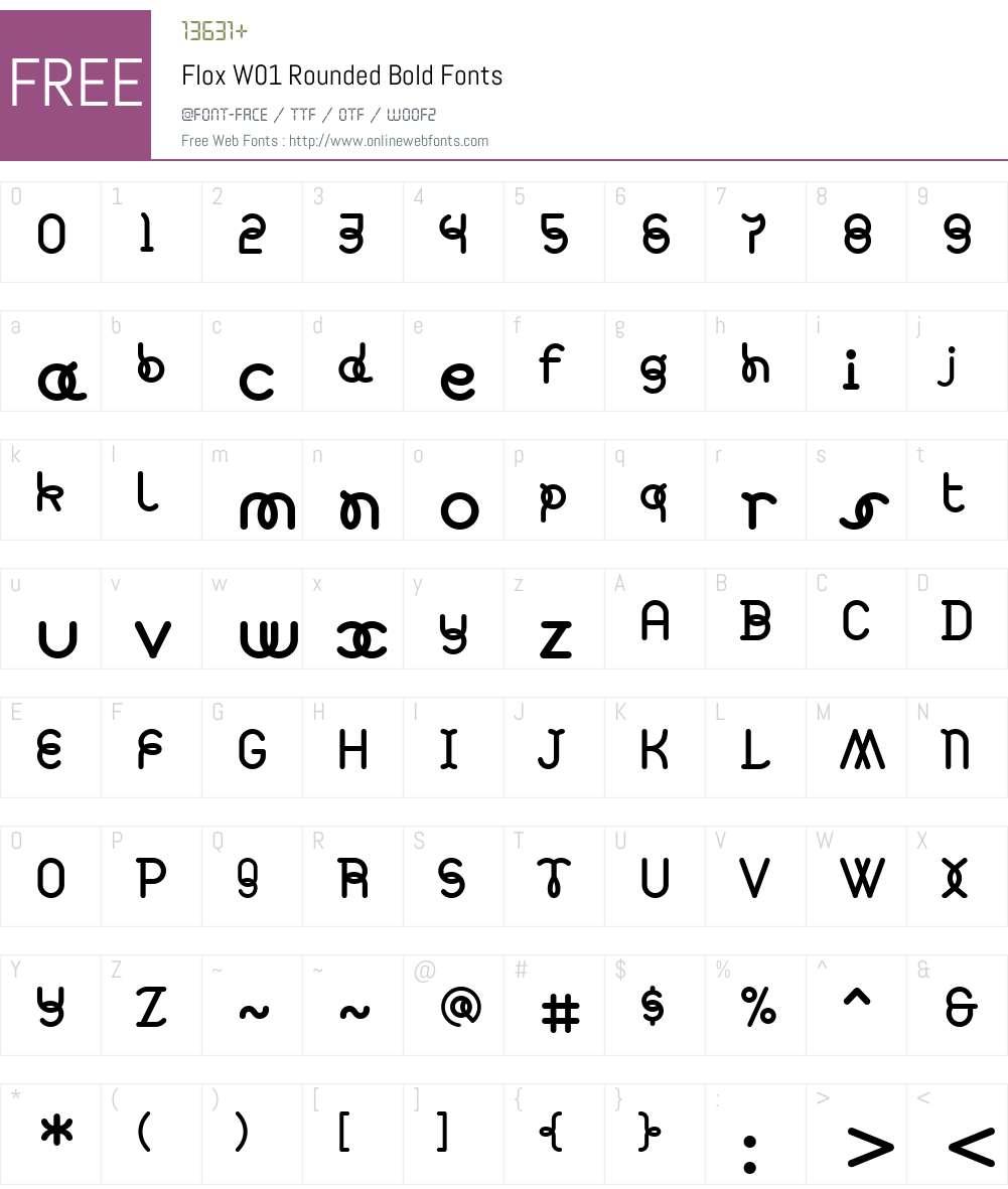 FloxW01-RoundedBold Font Screenshots