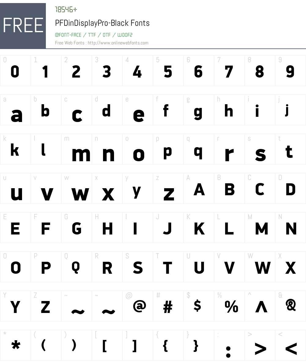 PF DinDisplay Pro Font Screenshots