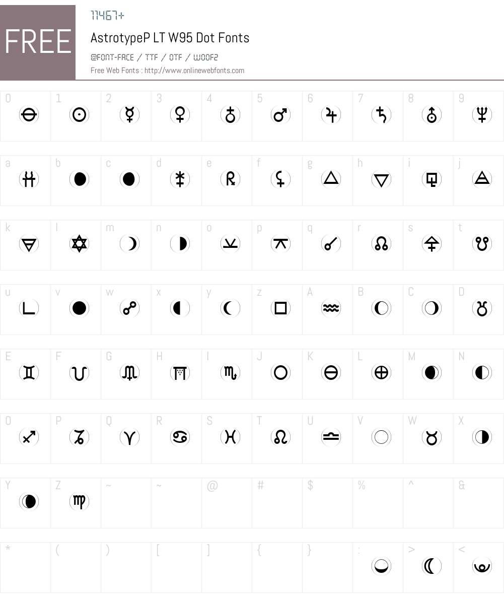 AstrotypePLTW95-Dot Font Screenshots