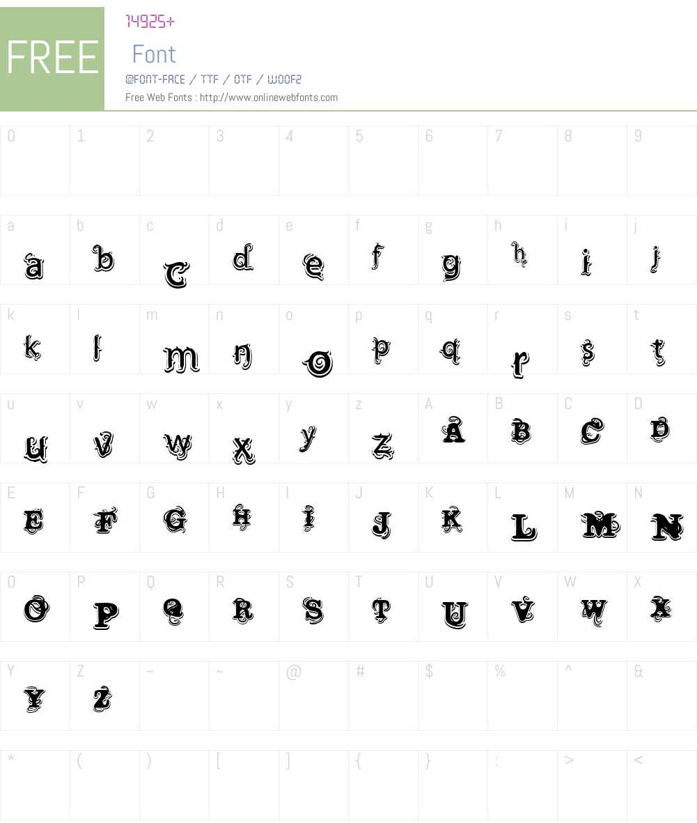 Vtks Wine Label Font Screenshots