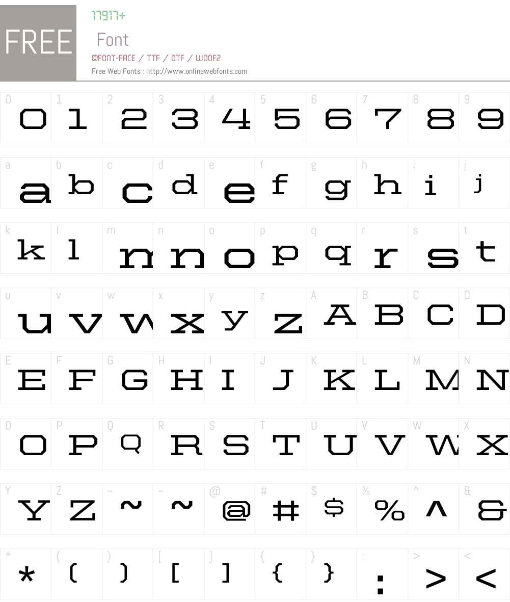 United Serif Ext Font Screenshots