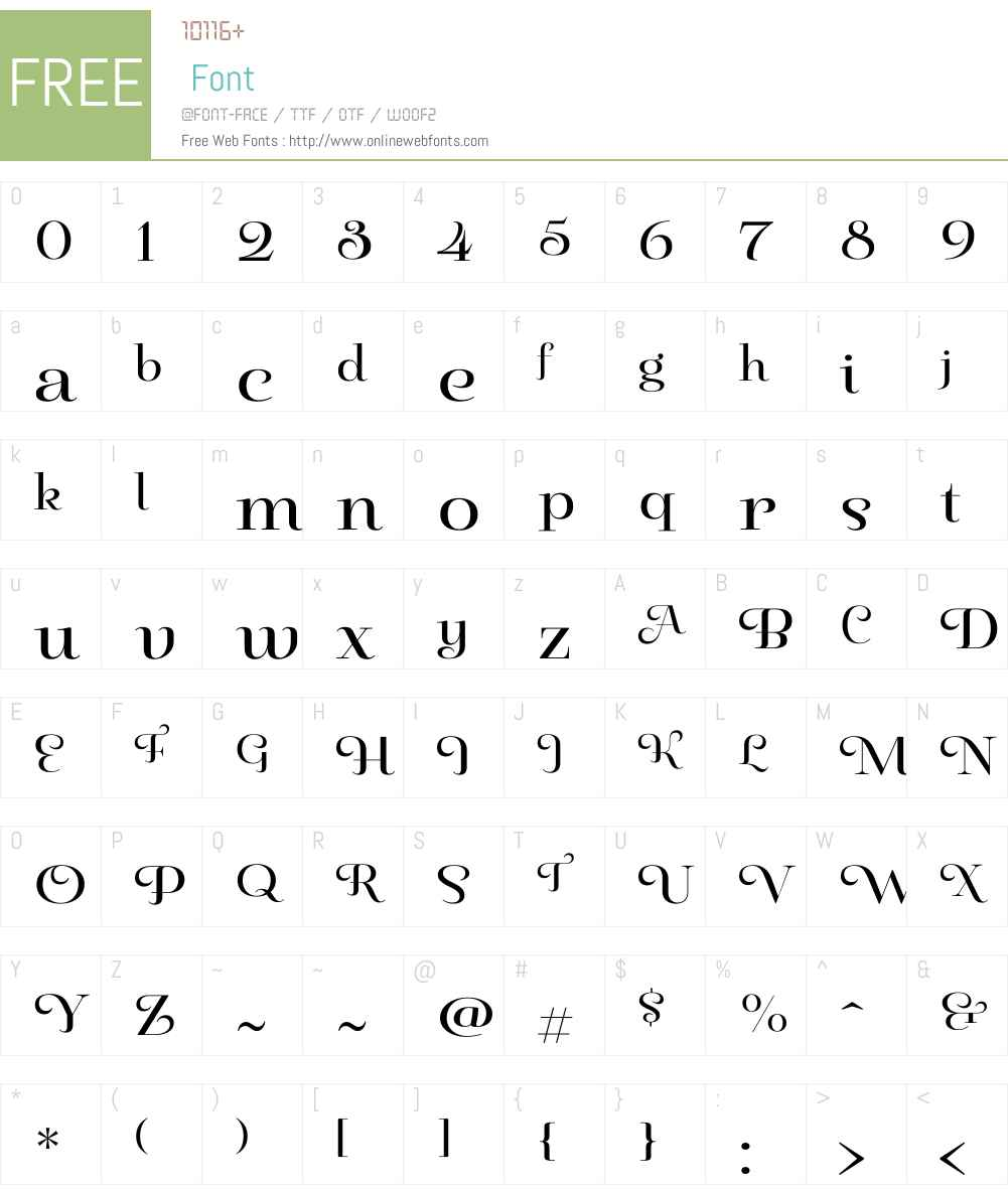 PaulineDidoneW01-Regular Font Screenshots
