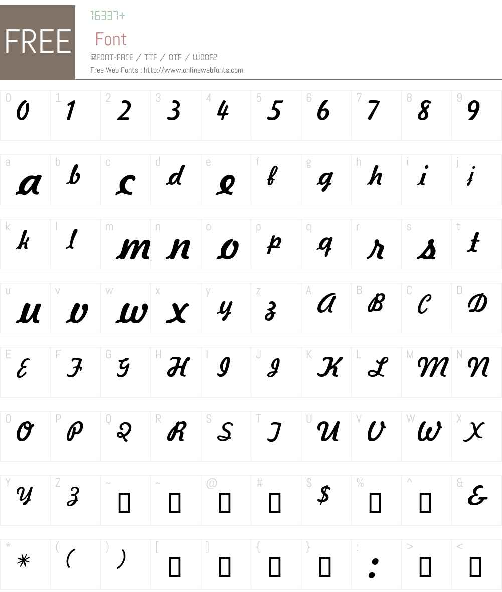 Kavaler Font Screenshots