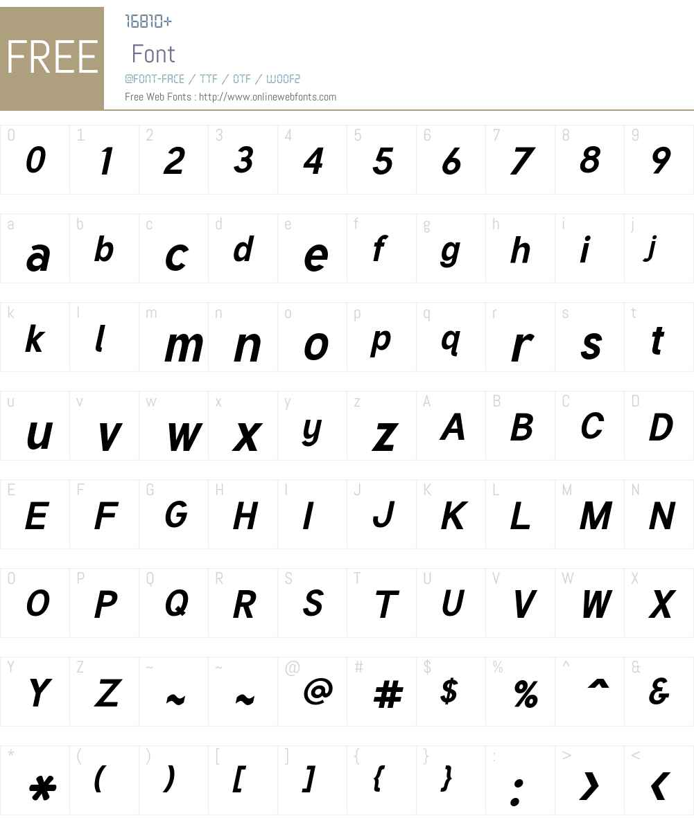 Tuffy Font Screenshots