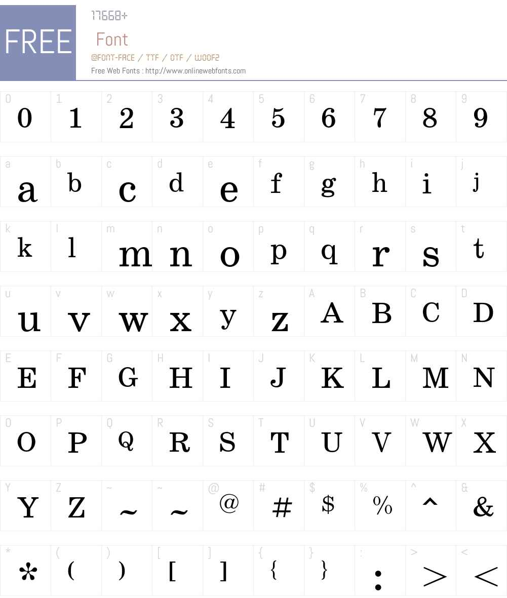 SchoolBookC Font Screenshots
