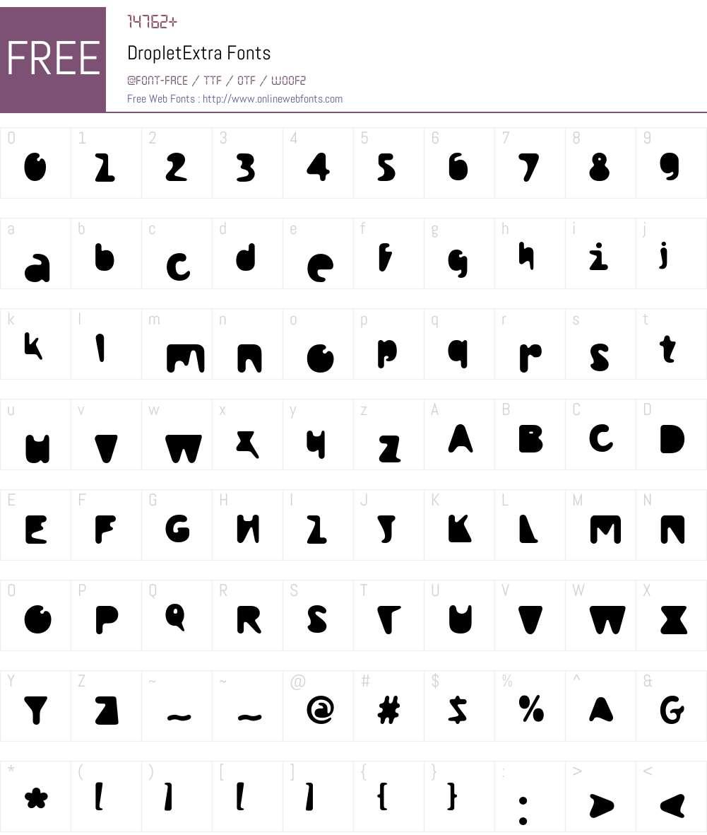 Droplet Font Screenshots