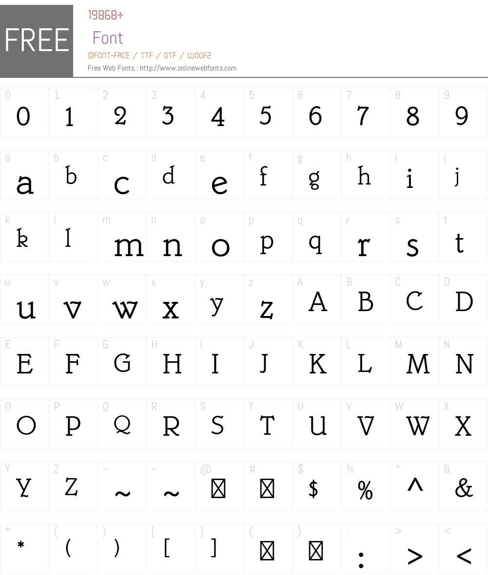 Belwe Mono Std Font Screenshots