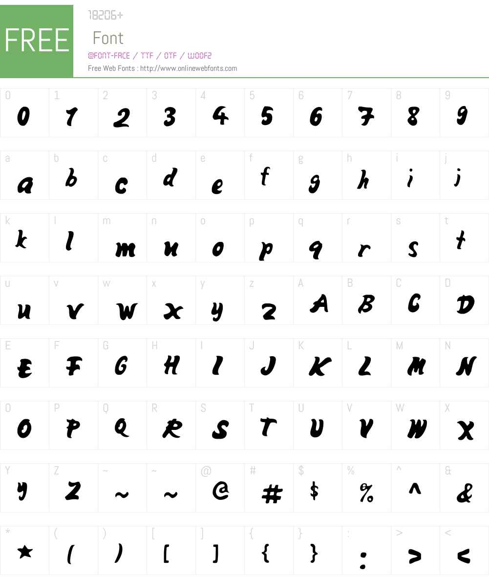 MangoW00-Fill Font Screenshots
