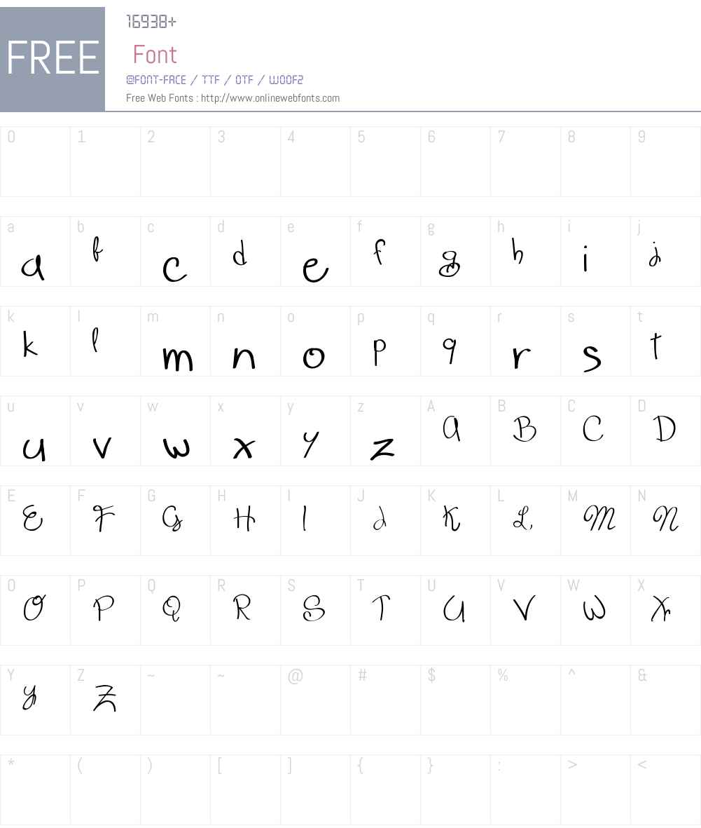 Scrappy looking demo Font Screenshots