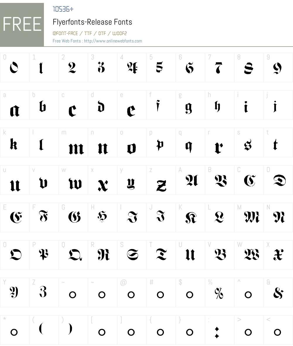 Flyerfonts-Release Font Screenshots