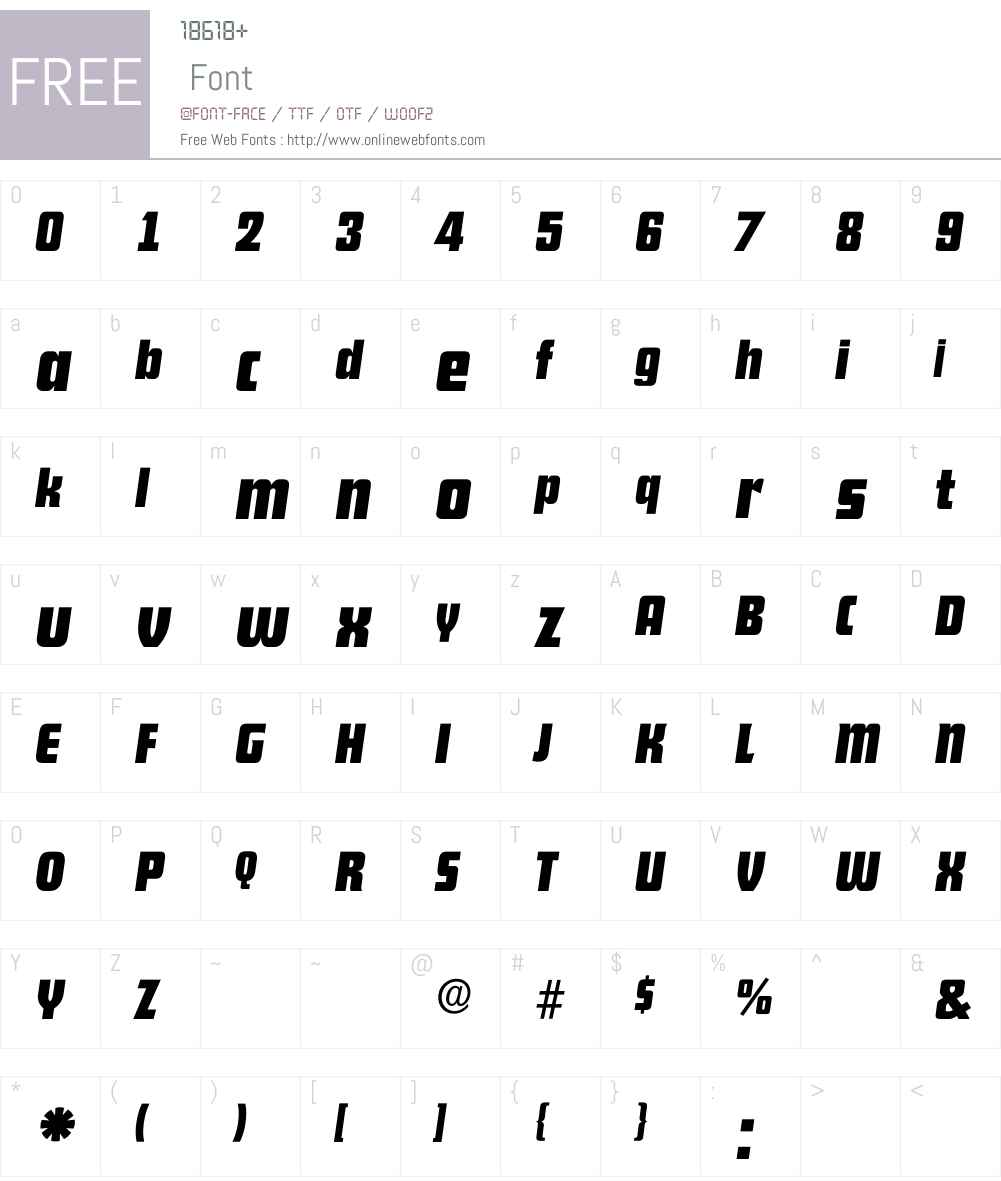 FutanaItal Font Screenshots