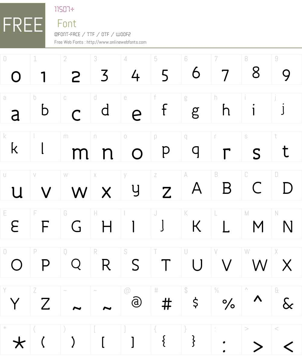 Roice-Regular Font Screenshots