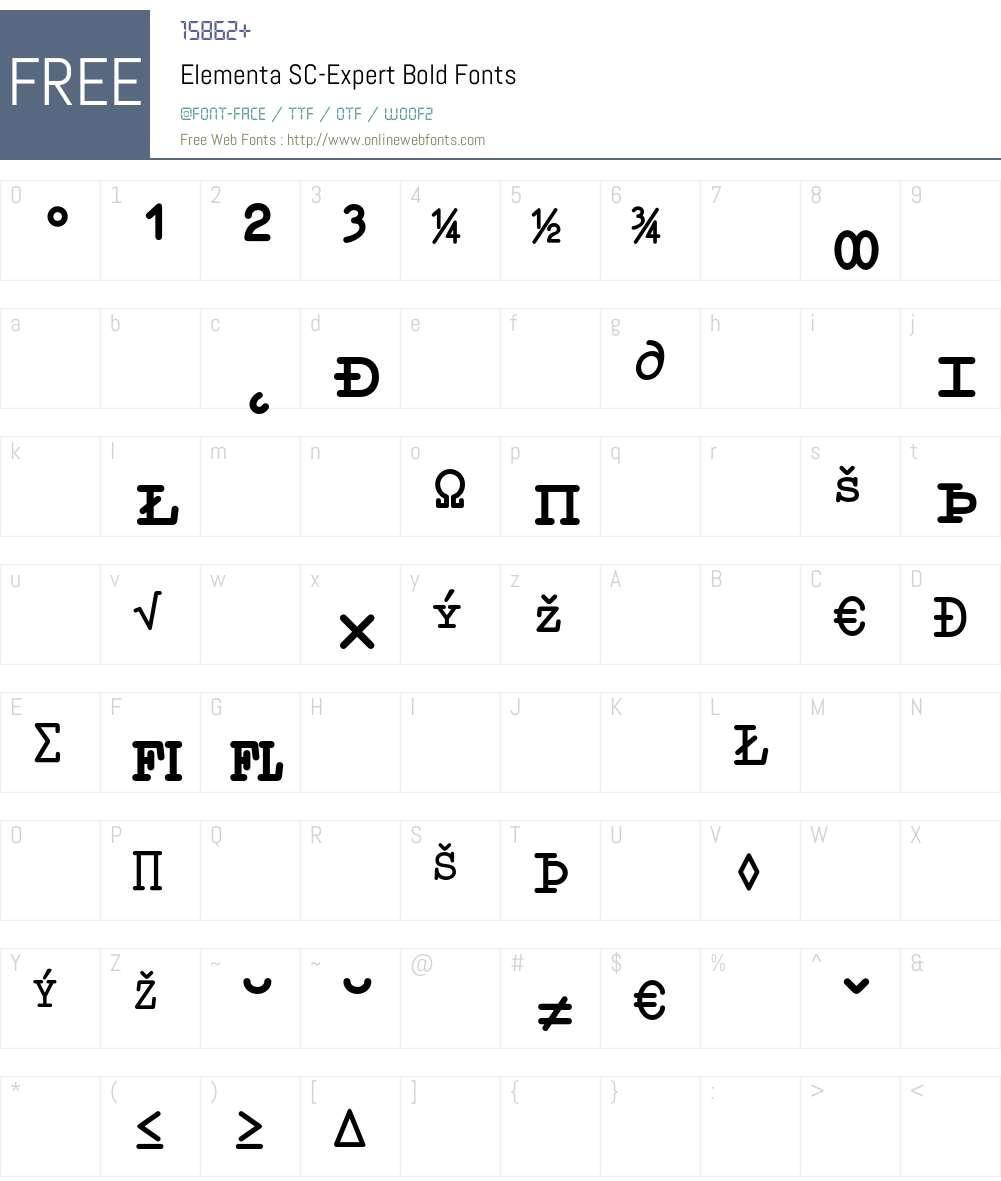 Elementa SC-Expert Font Screenshots