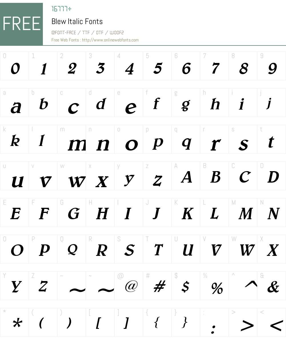 Blew Font Screenshots