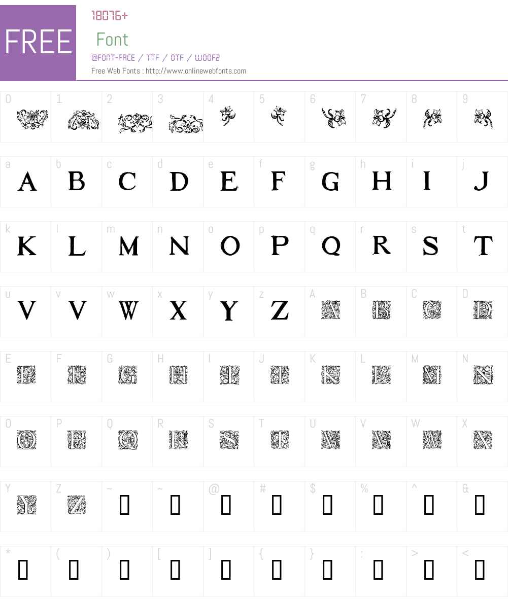 1584_Rinceau Font Screenshots
