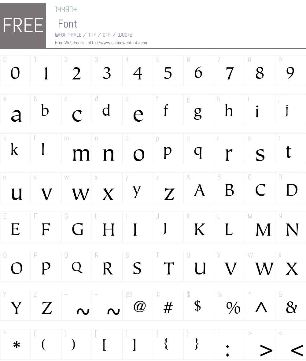 ITC Tiepolo Std Font Screenshots