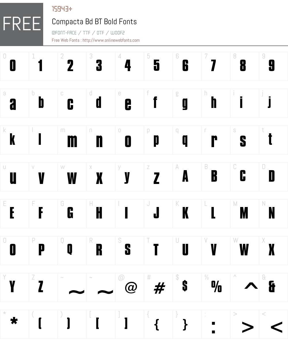 Compacta Bd BT Font Screenshots