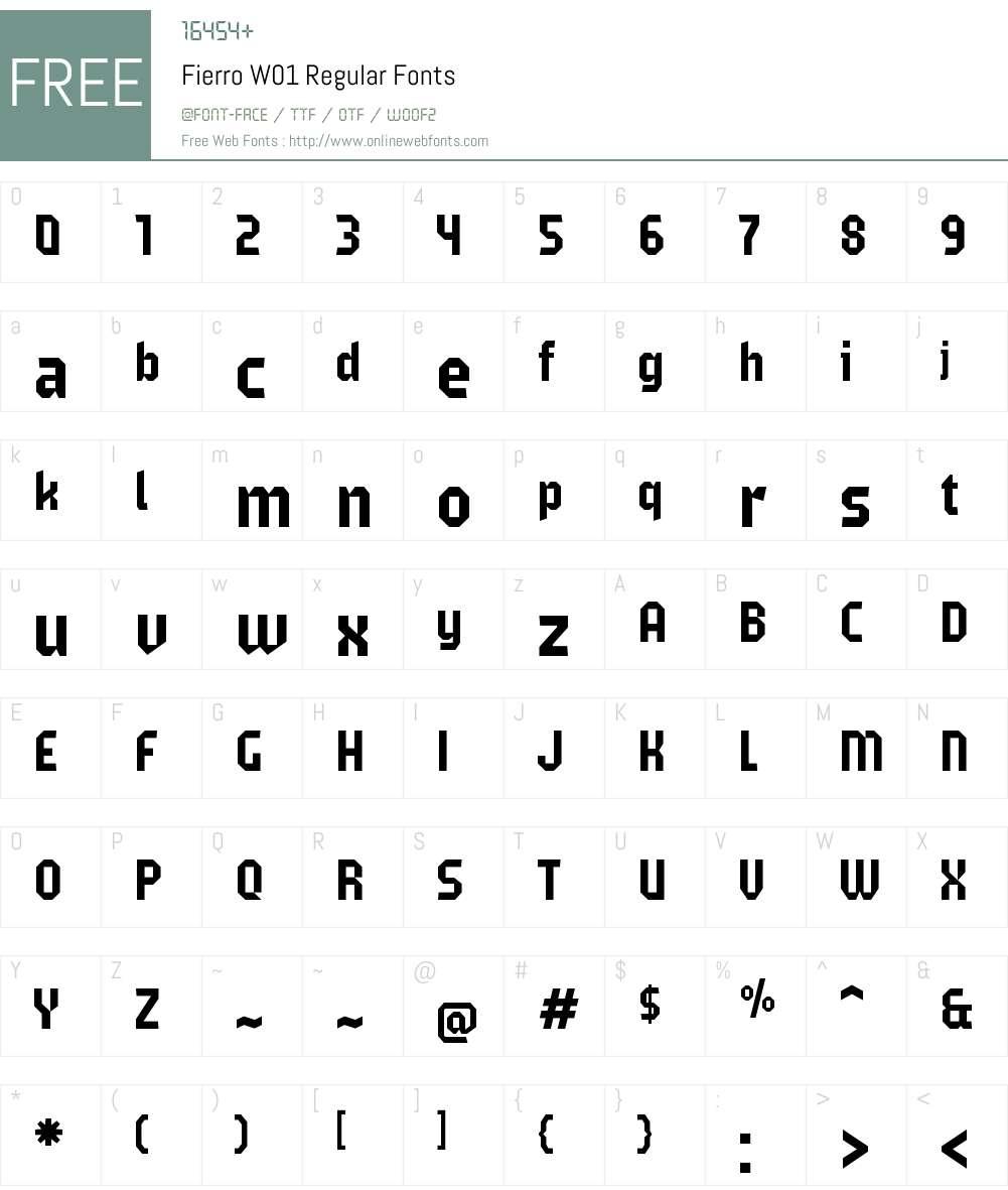 FierroW01-Regular Font Screenshots