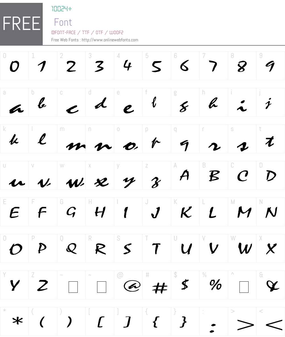 Mystic Extended Font Screenshots